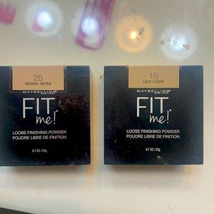 Fit me loose powder 1 light and 1 medium